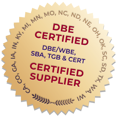 DBE Certified - Certified Supplier - Seal Image